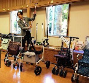 台場訪問相談会『歩行を助ける福祉用具を知ろう!』を開催しました。
